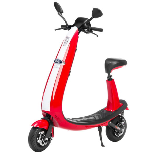 Vintage E-Scooter with Red Stripes